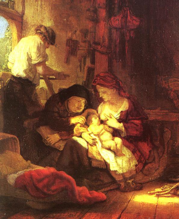 Rembrandt sainte famille 1640 le louvre paris